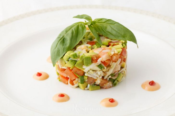 Салат из краба с авокадо рецепт с